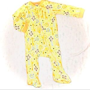 Kidgets yellow Giraffe Footy pajamas